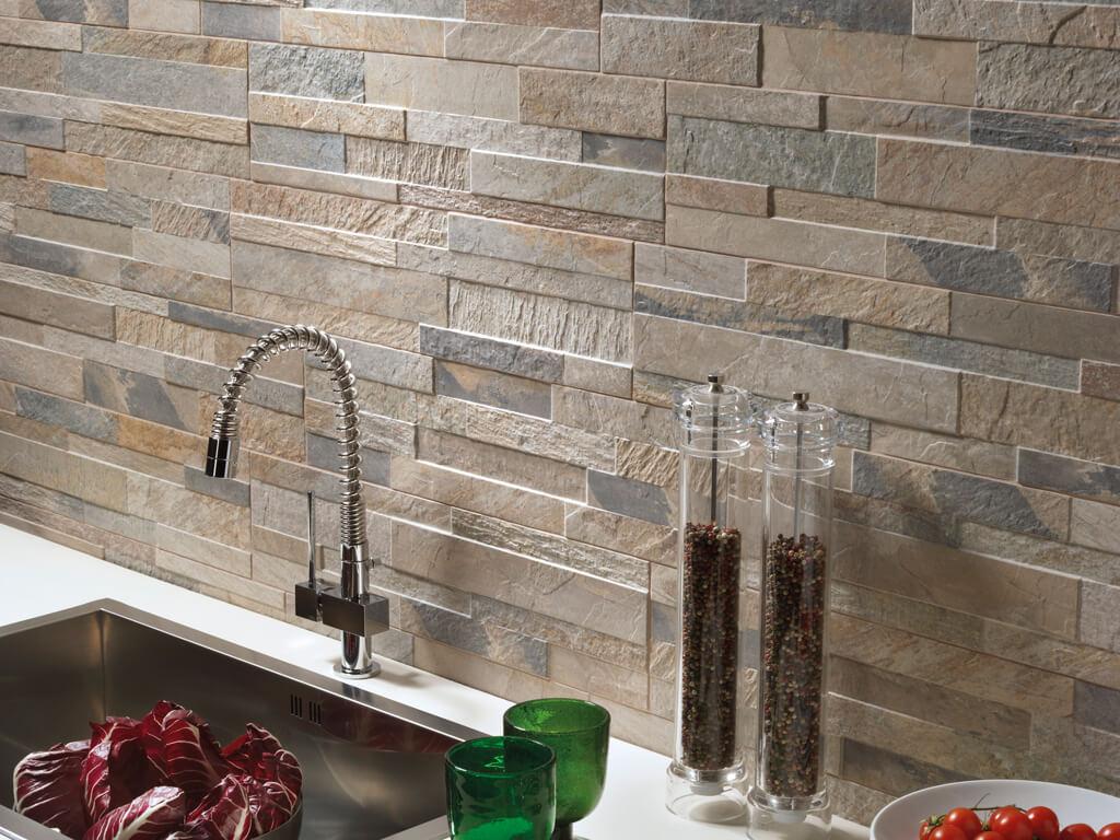 Steenstrips lingen keramiek for Piastrelle per parete cucina