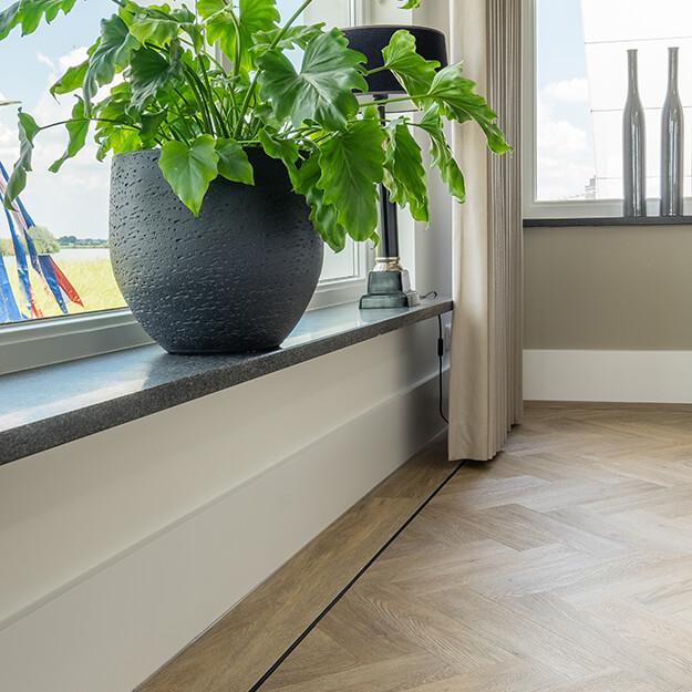 PVC visgraat vloer