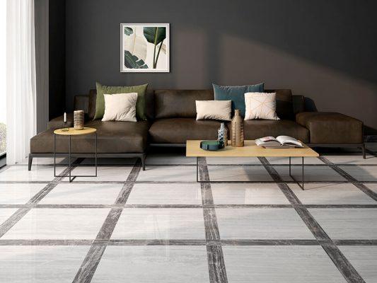 marmerlook vloertegels woonkamer
